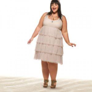 robe à volants femme ronde